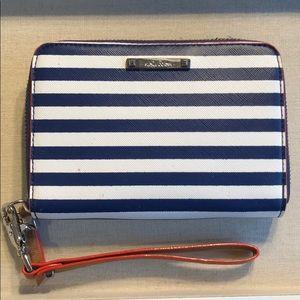 Chelsea Tech Wallet, navy stripe